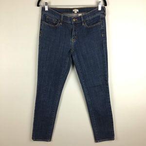 j crew cropped skinny jeans sz 27